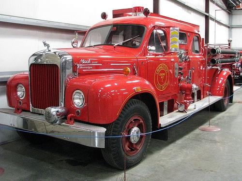 Old Mack Fire Trucks : Mack model b fire truck old trucks pinterest