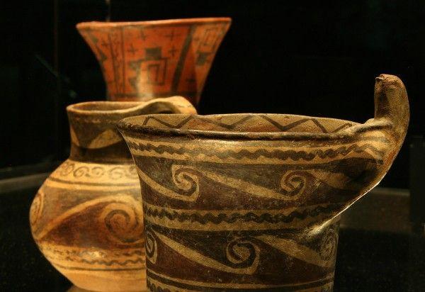 Vaso policromo con figura de saurio. Kero. Detalle. Arica. MCHAP, 2093.