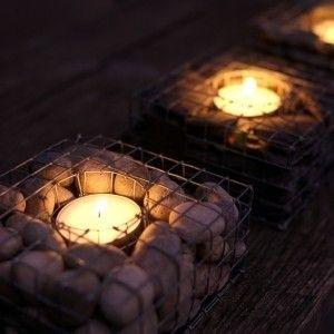 Pebblecube Tea Light Holder - contemporary - outdoor lighting - Garden Beet
