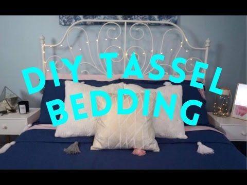DIY Pinterest Inspired Tassel Bedding I She The Maker - YouTube