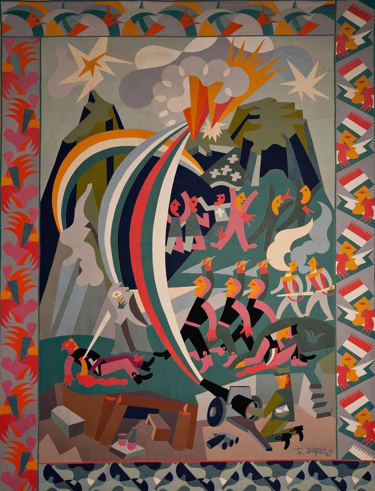 Fortunato Depero, War-party, 1925.