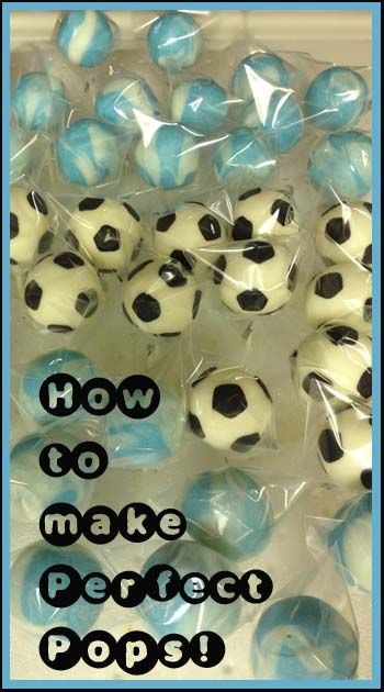 How to make Soccer (or any kind of) cake pops that wont crack.