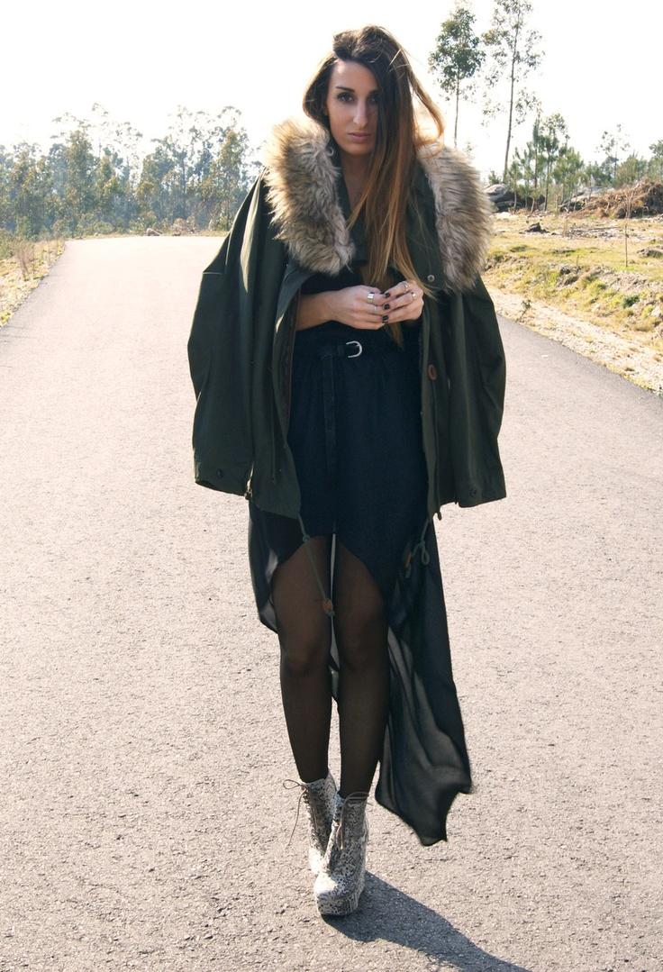 "RUNWAY TO HEAVEN #fashion #style ""tail hem""  , Zara in Coats, Zara in Skirts, Asos in Heels / Wedges"