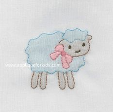 sweet little lamb! Very easy machine shadow work design!