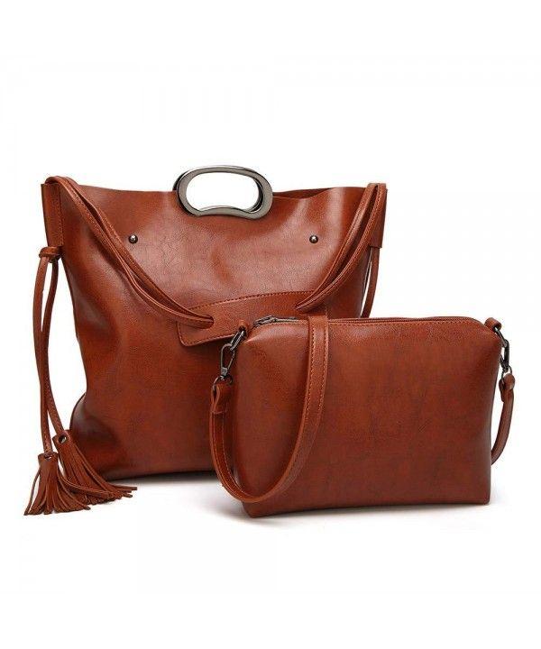 Women s Bags, Shoulder Bags, Large Capacity Tote Bags Women s Handbags  Designer Satchel with PU Leather Shoulder Bag for Ladies - Tan -  CI18HEHKR0Y  Women ... bd56beb162