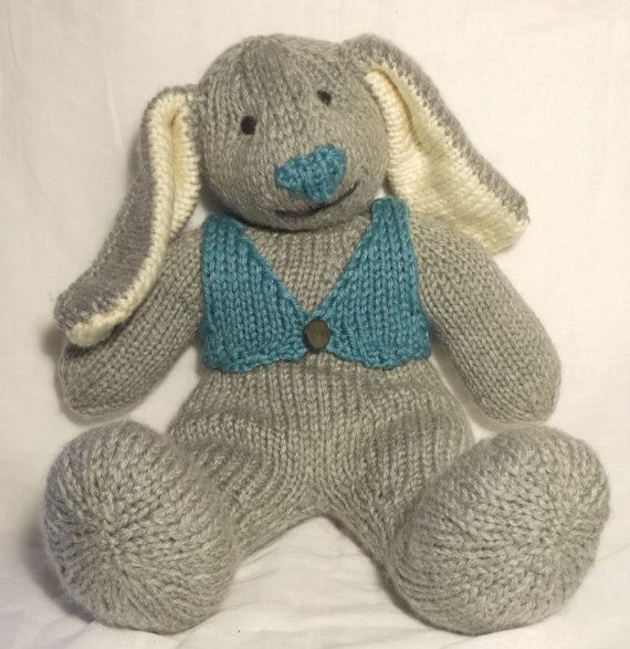 Big Bunny Knitting Pattern by ClaireFairallDesigns on Etsy