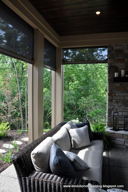 Phantom Screens for outdoor living to keep bugs out in the hot summer