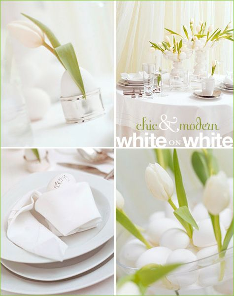 Stylish Modern Easter Centerpieces