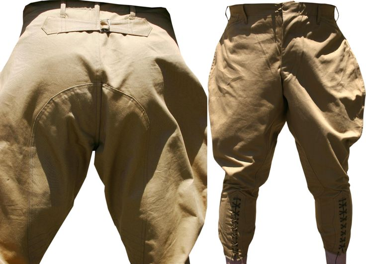 85.00 US Model 1908 Cavalry Breeches New reproduction of the 1908 Pattern breeches for mounted soldiers.  Made in golden tan khaki, with back belt and full seat reinforcement.  These were still being issued in 1917 as old stocks were used up for mobilization.