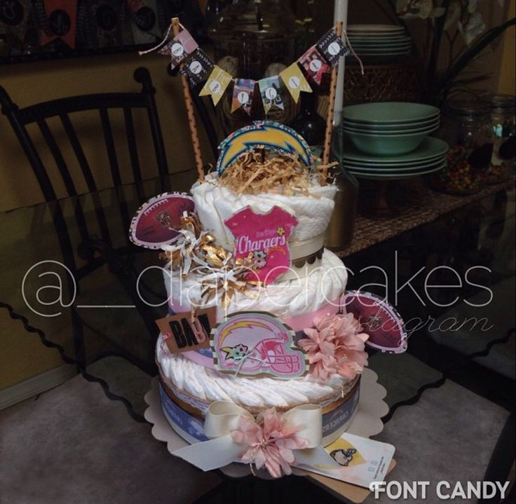 San Diego Chargers Cake: 10 Best Diaper Cakes By Elizabeth Images On Pinterest