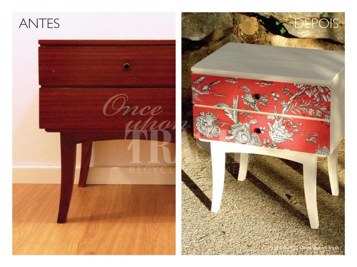 MESA DE CABECEIRA SANTA CLARA * Before & After * By Once Upon a Trash