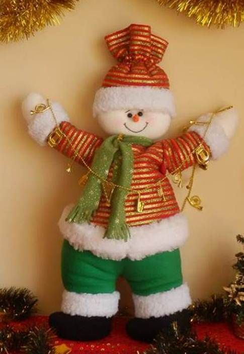 Muñeco de Nieve Elegante