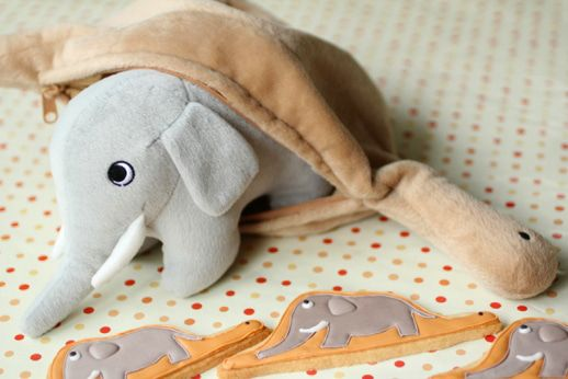 Le Petit Prince The Little Prince Elephant in Boa Constrictor Plush length 45cm