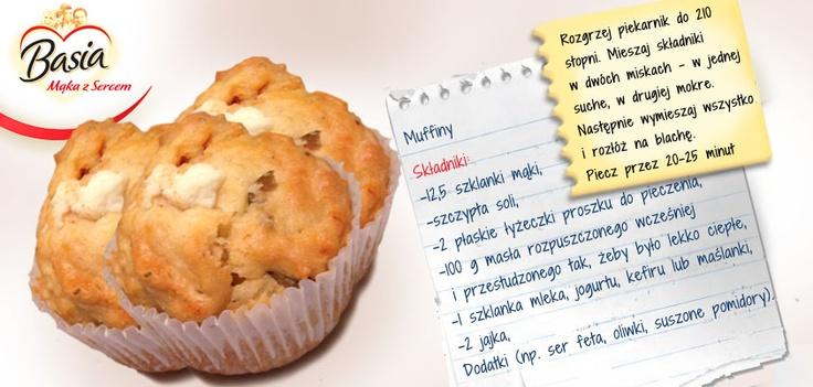 muffiny także na słono; http://www.mojabasia.pl/przepisy.html