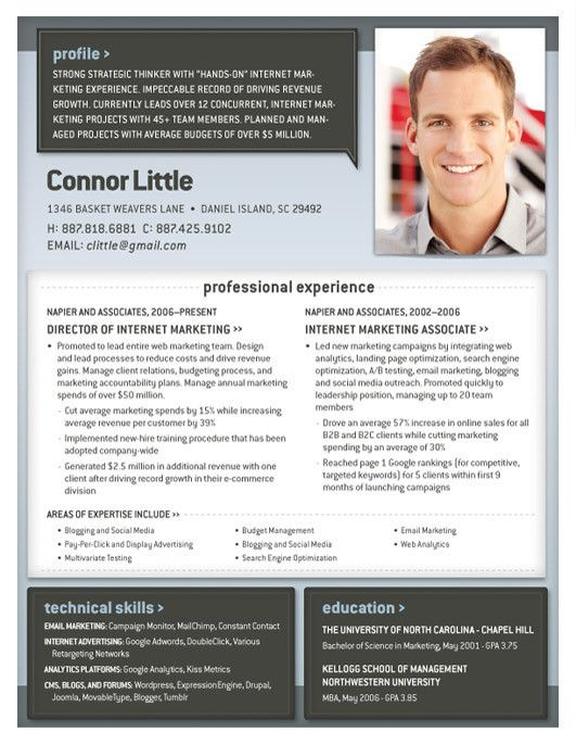 Resume Template | Geneva Blue and Grey – Loft Resumes
