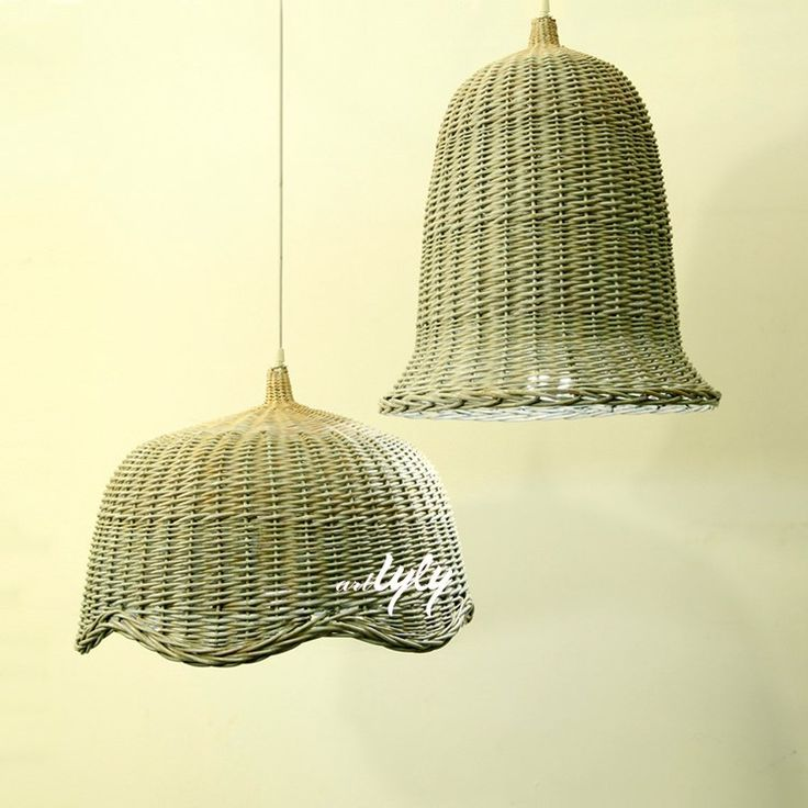 2015 popular customized wicker lamp