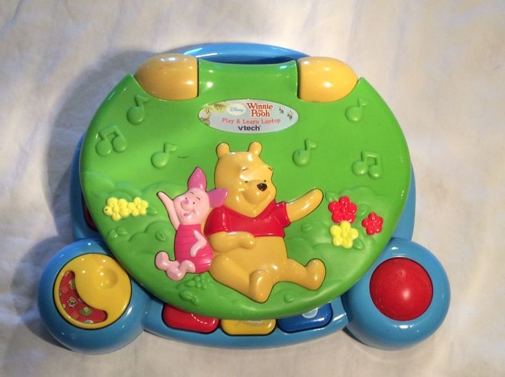 V Tech Winnie the Pooh play and Learn Laptop computer Disney    eBay