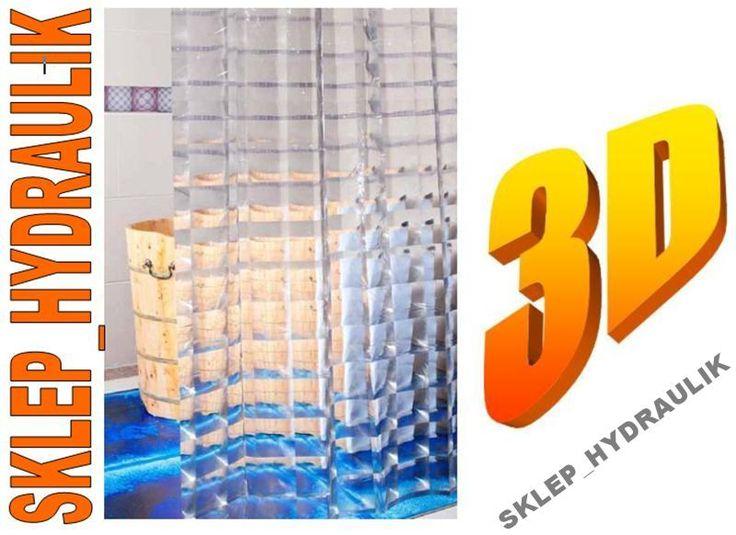 Zasłonka prysznicowa 180x200 SUPER EFEKT 3D (6025495076) - Allegro.pl - Więcej niż aukcje.