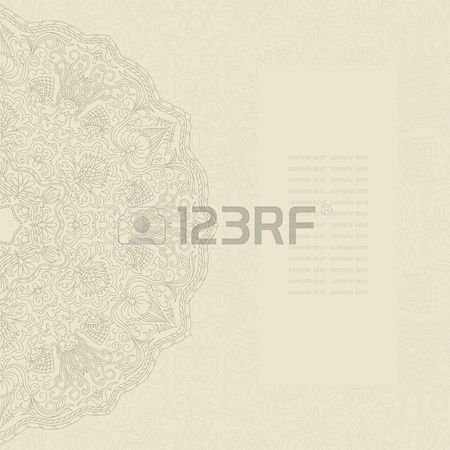 Vector Illustration With Ornament For Greeting Card. Royalty Free Cliparts, Vectors, And Stock Illustration. Pic 13450380.