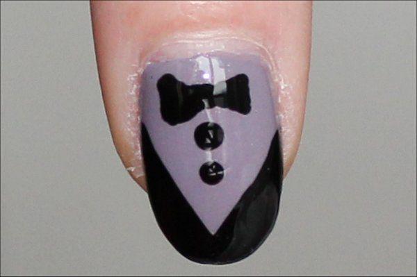 Tuxedo Nails!Nail Art Tutorials, Nails Art Tutorials, Nails Design, Tuxedos Nails, Step By Step Nails