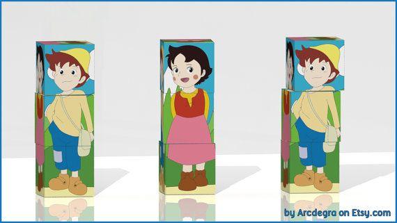 Heidi and Peter Blocks  Heidi the girl of the Alps  by ArcDeGra