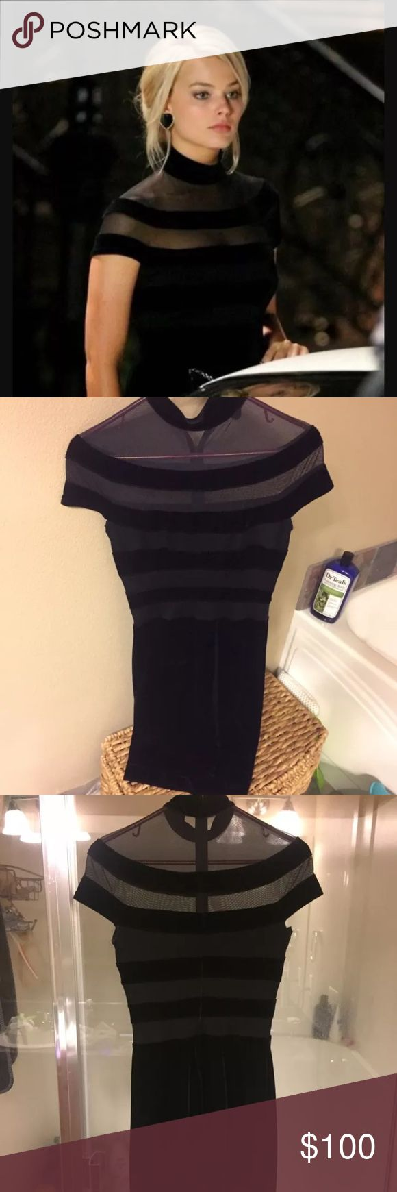 Tadashi vintage dress Same exact dress worn in the movie The wolf on Wall Street!!! Beautiful!! Great condition .. it's been kept safely in my closet with no use. Size 4 Tadashi Shoji Dresses
