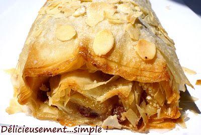 Délicieusement... simple !: Strudel aux pommes caramélisées