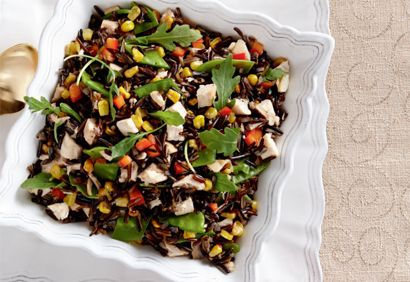#Salade de #riz sauvage au #dindon et au maïs grillé