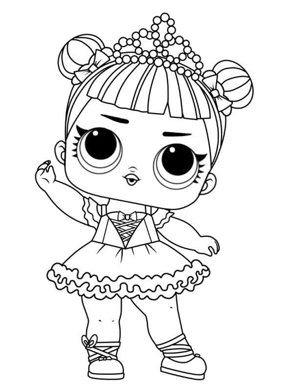 Coloring Page L O L Surprise Dolls Coloring Pages Cool Coloring Pages Baby Coloring Pages Lol Dolls