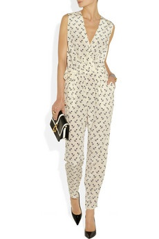 anchor print jumpsuit!  (I would go with a dark solid color, but I LOVE a jumpsuit!)