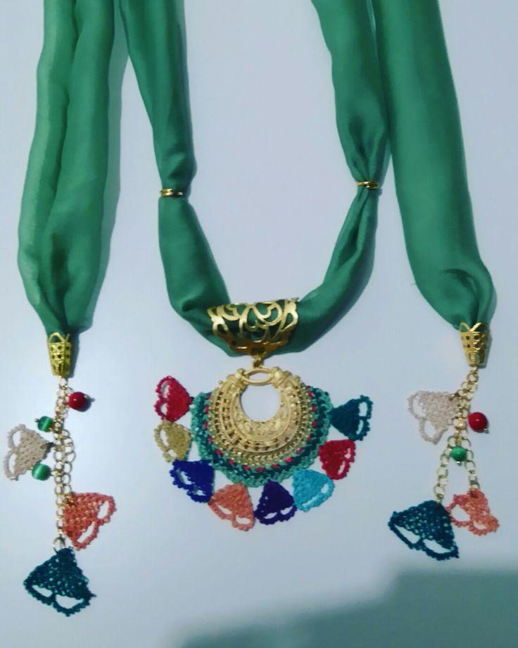 İğne oyası takılarım/Turkish needle lace