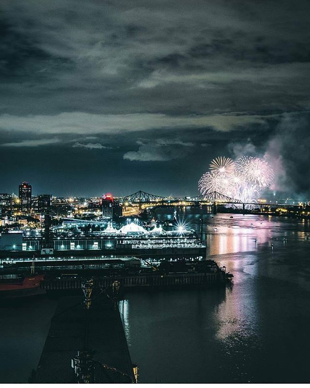 Summer night fireworks in Montreal. Picture by @simonlachapelle. #mtlblog…                                                                                                                                                                                 More