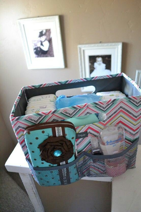 Fold n File perfect for a baby changing station!