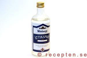 Ättika = White distilled vinegar. Det de använder i många amerikanska städrecept är 5-8% starkt medan ättikssprit är 12% etc.