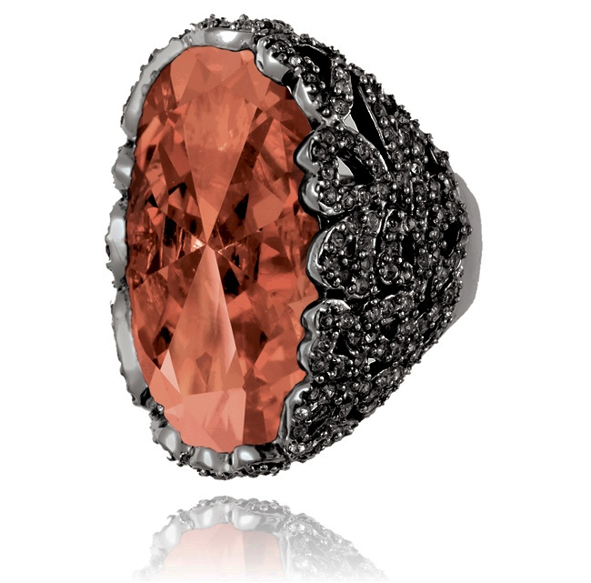 SAMANTHA WILLS - SAFARI NIGHTS RING - PEACH