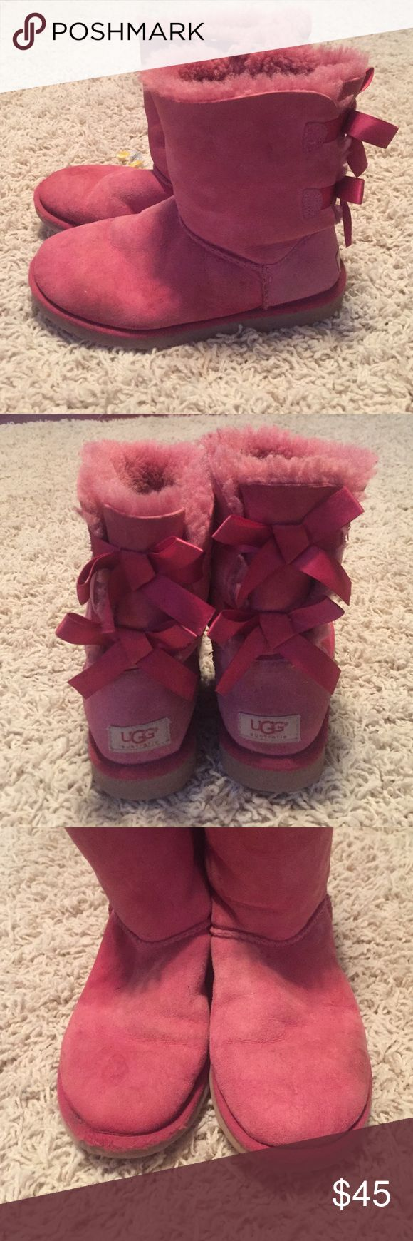 Girls Ugg Boots size 6 Girls Ugg Boots size 6  Great Used Condition. We did spray the weather proofing on them when we got them. UGG Shoes Rain & Snow Boots
