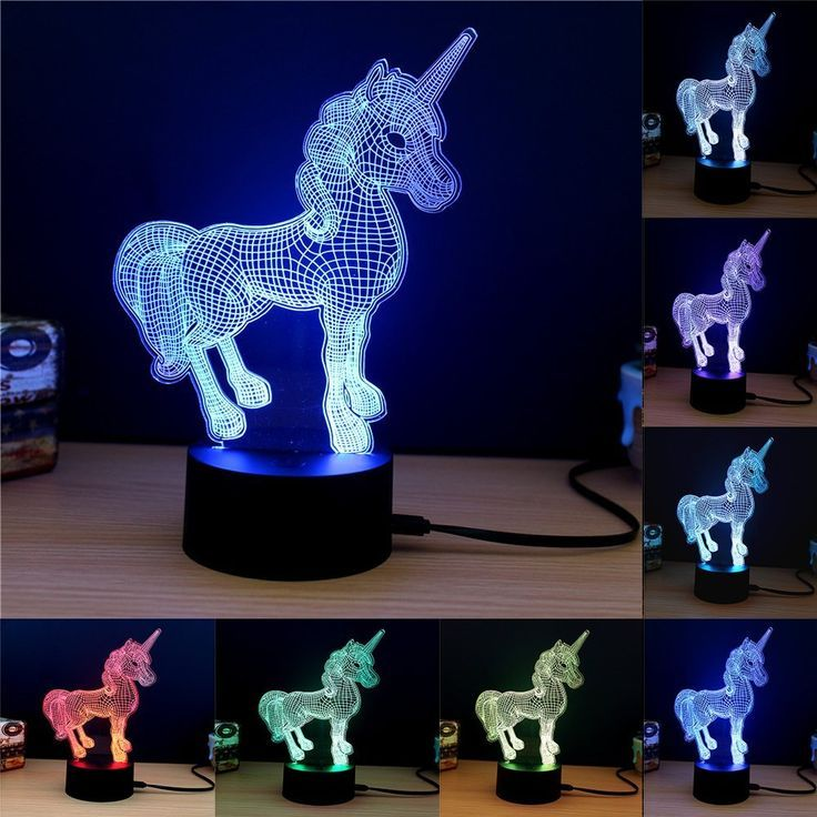 Werbung Einhorn Lampe 3d Touch Nachtlicht Fipart 7 Farbe 3d Umgebungslicht Mit Acryl Panel Und Led Halt Joyeria De Unicornio Cosas De Unicornio Unicornio