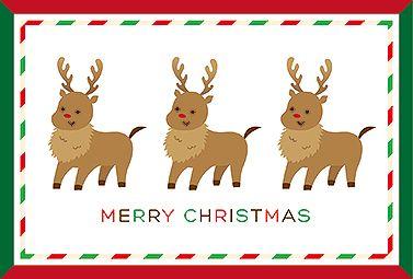 トナカイ! クリスマス 2016  無料 イラスト 可愛いトナカイのクリスマスカードです。プレゼントに添えてみたり、ポストカードにして飾ってみたり、色々な使い方をしてみてください♪