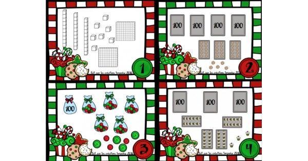Voici un ensemble de 20 cartes à tâche sur le dénombrement d'images de Noël. Les nombres utilisés sont entre 100 et 499. Cet ensemble est parfait pour les ateliers ou le plan de travail. L'ensemble comprend 20 cartes à tâche, un corrigé