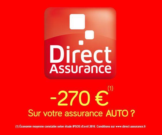 Selon une étude IPSOS, Direct Assurance Auto permet aux nouveaux clients de réaliser en moyenne -270€ d'économie pour des garanties identiques.