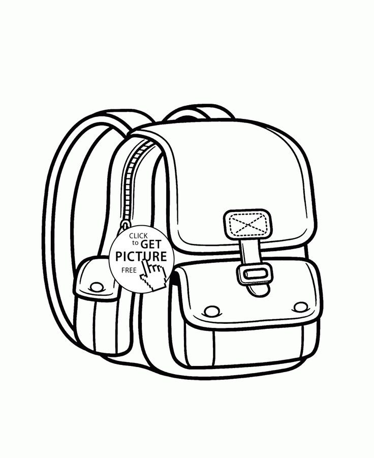 Backpack Coloring: 51 Best School Coloring Pages Images On Pinterest