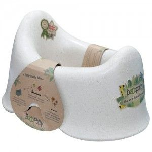 Ergonomic baby potty made from waste plant material that is durable, hygienic and will last for years of use. The natural plant materials will biodegrade only once the potty is composted or buried.