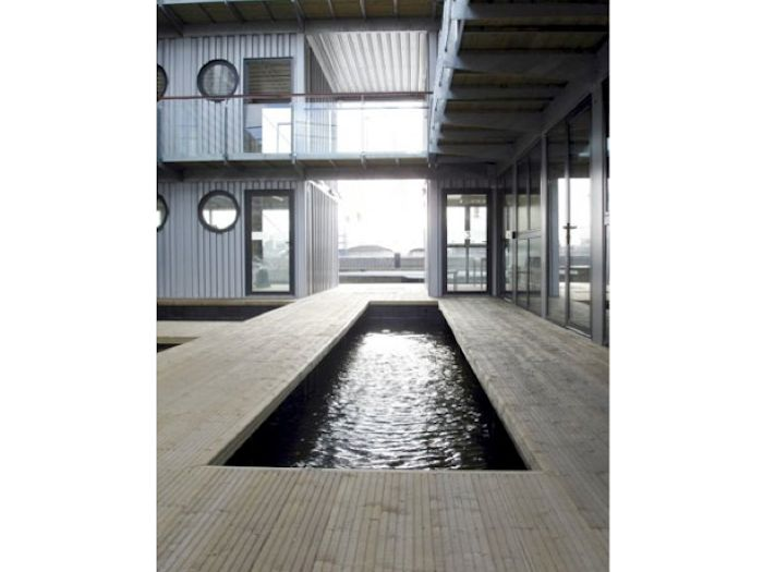 shipping container indoor swimming pool remodelista container haus pinterest container. Black Bedroom Furniture Sets. Home Design Ideas