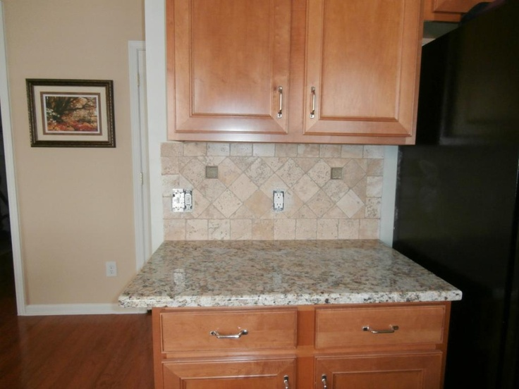 Giallo napoli granite countertops installed in charlotte for Kitchen cabinets 12x12