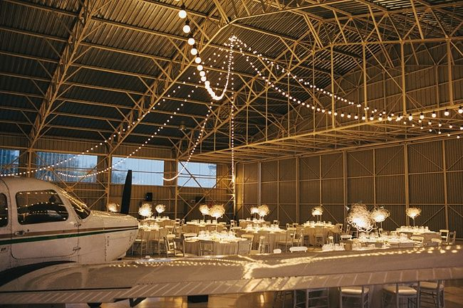Unique Wedding in a Plane Hangar | Fly Away Bride. If I ever get married!!! :))