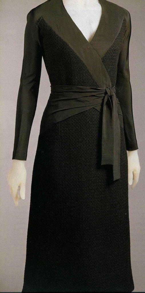 Elsa Schiaparelli ensemble of coat and dress.