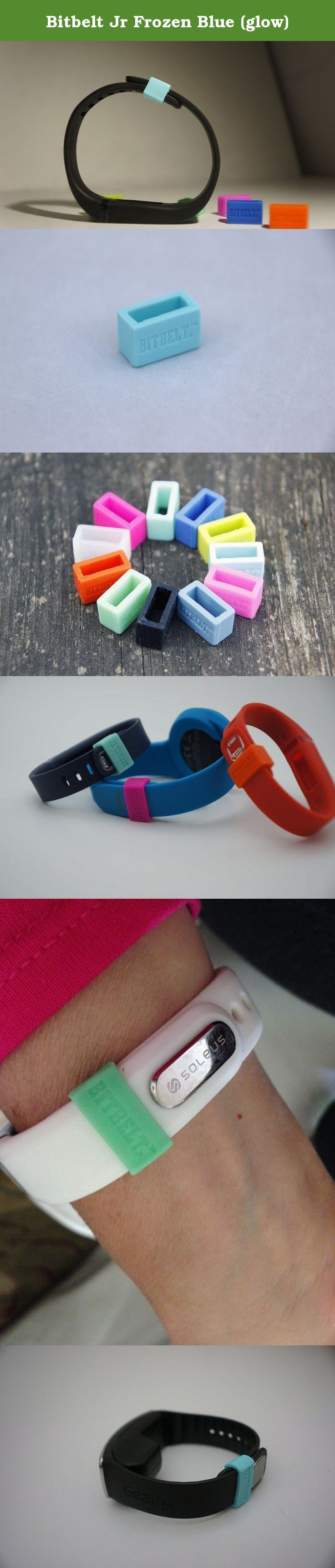 Bitbelt Jr Frozen Blue (glow). BITBELT JR CREATED TO PROTECT YOUR THINNER WIDTH WRIST WORN FITNESS TRACKER AND CHILD SIZE MAGIC BAND. DONT RELY ON A SMALL PLASTIC CLIP TO SECURE YOUR INVESTMENT TO HEALTH OR YOUR VACATION.WE ARE THE CHEAPEST INSURANCE AVAILABLE. Your bracelet will come unclasped. We are the cheapest insurance available to keep yours from being lost.