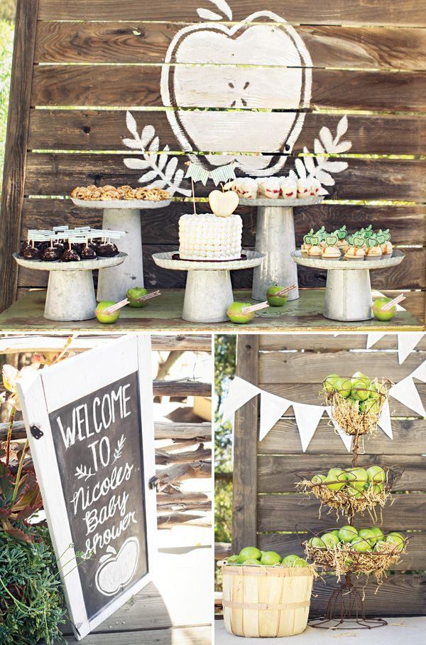Rustic & Homemade Apple of My Eye Baby Shower! Very cute idea!