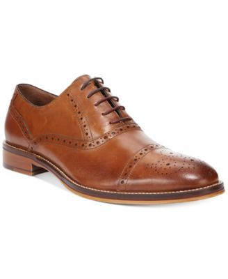 Johnston & Murphy Conard Cap-Toe Oxfords- Extended Sizes Available