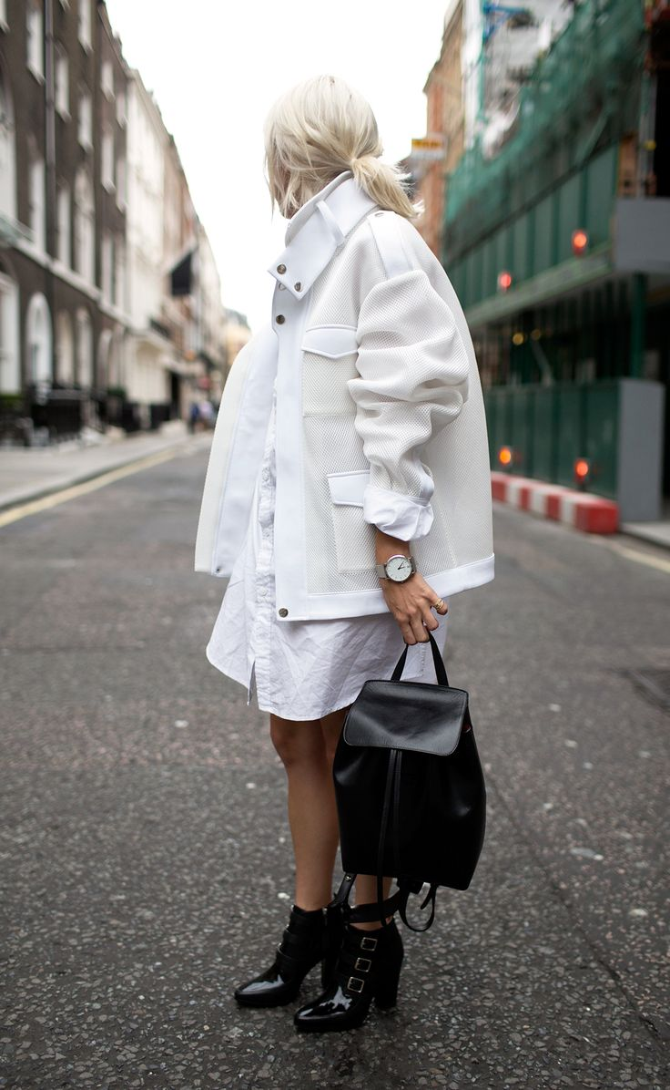 Blogger Courtney Trop wearing her CM | Silver during LDN Fashion Week.